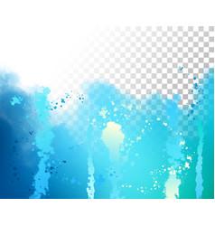 Abstract watercolor border vector