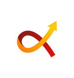 Alfa symbol arrow logo vector
