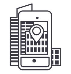 Augmented realitycity in smartphone lin vector