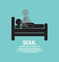 Black symbol soul leaves body vector