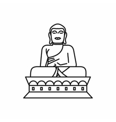 Buddha statue icon outline style vector image