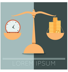 business concept about time and money vector image