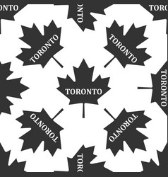 canadian maple leaf with city name toronto icon vector image vector image