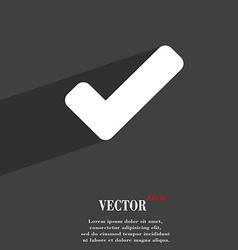 Check mark tik icon symbol Flat modern web design vector image