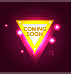 Coming soon banner vector