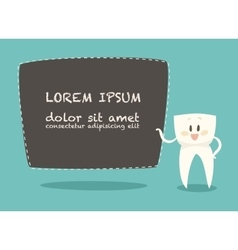Dentist business card healthy white teeth vector