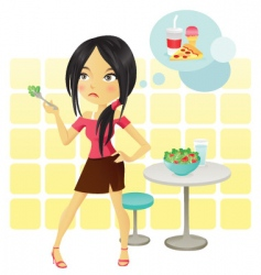 diet girl vector image vector image