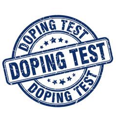 Doping test blue grunge stamp vector