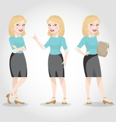 Female character caucasian business woman vector