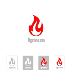 Fire flame logo design template corporate vector