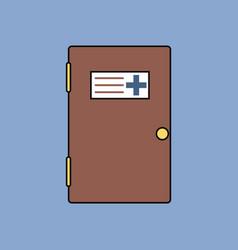 flat icon design collection doctors door vector image