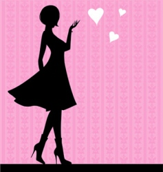 girl love vector image vector image