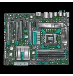 Hand drawn motherboard vector image vector image