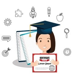 happy person graduating design vector image