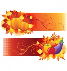 Harvest banners vector