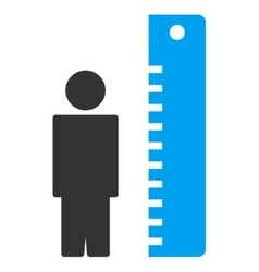 Height meter icon vector