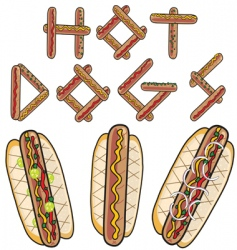 hot dogs vector image vector image