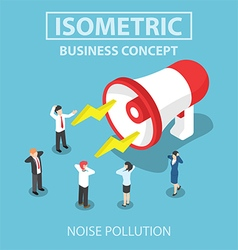 Isometric businesspeople disturbed by the noise fr vector