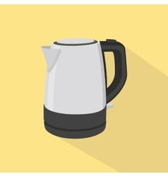 kettle single isolated oibject with yellow vector image vector image