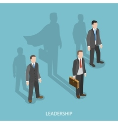Leadership isometric flat concept vector