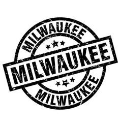 Milwaukee black round grunge stamp vector