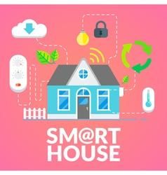 Modern smart house flat design vector