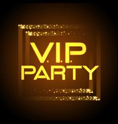 Neon sign vip party disco poster vector