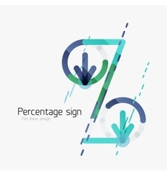 Percentage sign background vector image