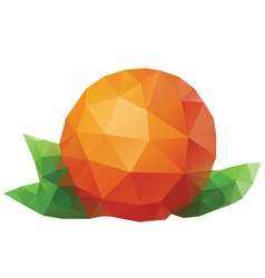 Polygonal Orange vector image vector image