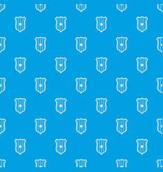 Protective shield pattern seamless blue vector