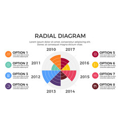 radial diagram infographic element vector image vector image