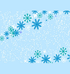 snowflakes on blue vector image