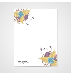 Template letterhead with abstract hamd drawn vector image vector image