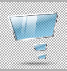 Transparent abstract hi tech glossy glass and vector image vector image