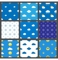 weather pattern vector image vector image