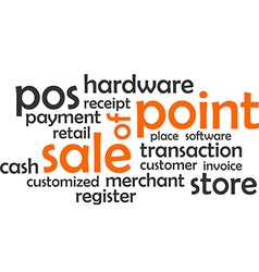 Word cloud point of sale vector