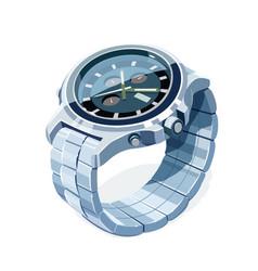 Wrist mechanical watch vector