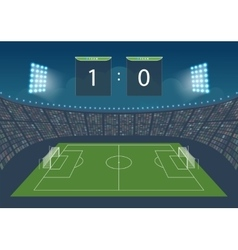 Stadium for game in football vector