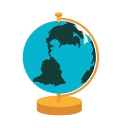 Globe map world vector