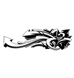 Black and white graffiti background vector