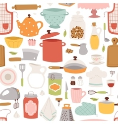 Kitchenware seamless pattern vector image
