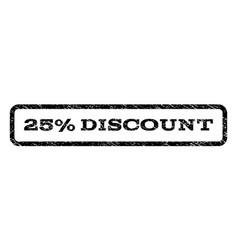 25 percent discount watermark stamp vector image