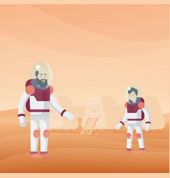 flat mars exploration template vector image
