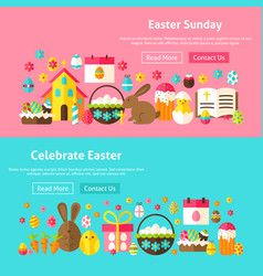 Easter sunday website banners vector