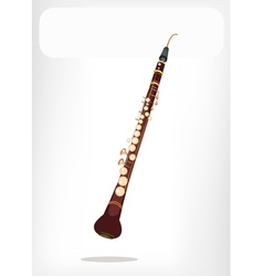 A musical cor anglais with a white banner vector