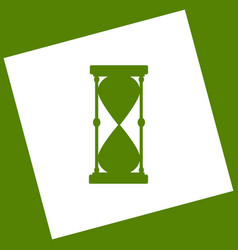 hourglass sign   white icon vector image