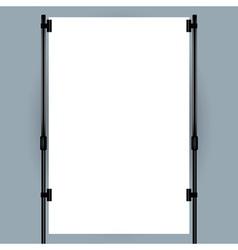 Blank banner display vector
