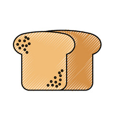Bread wheat fresh bakery pastry product food vector