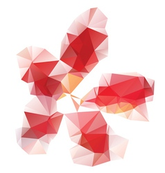 Red Polygonal Flower vector image