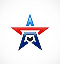 Star shape pride logo vector